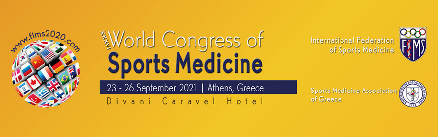 36TH WORLD CONGRESS OF SPORTS MEDICINE - ATHENS - GREECE 2020